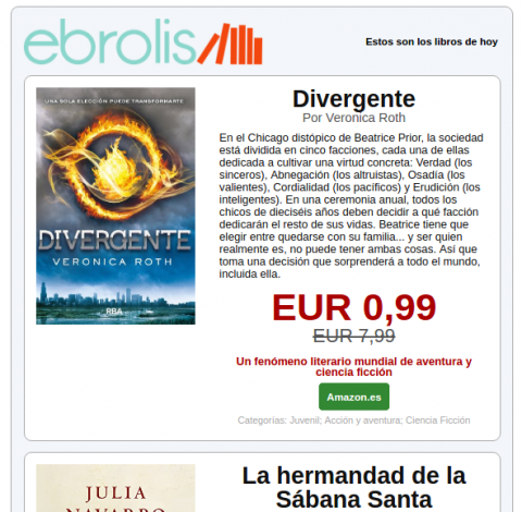Ebrolis, libros gratis de forma legal