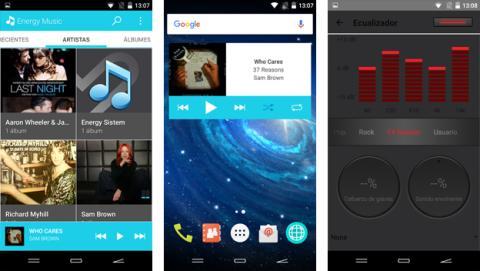 Aplicaciones preinstaladas en el Energy Phone