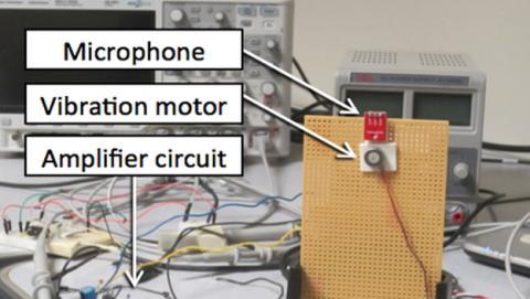 Vibraphone convierte el motor de vibración en un micrófono