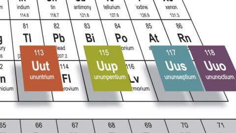 Así se llaman los nuevos elementos de la tabla periódica