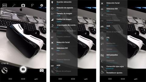 Interfaz de cámara del Energy Phone Pro 4G