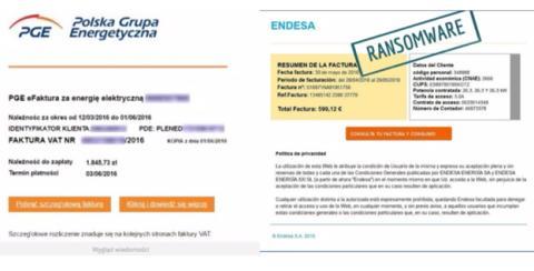Email falso con ransomware adjunto