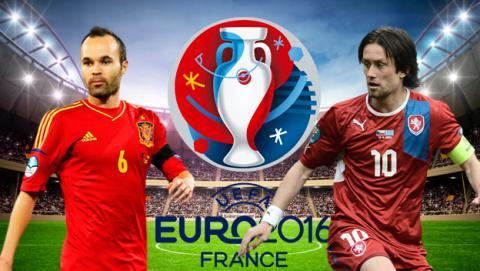 España vs República Checa de la Eurocopa