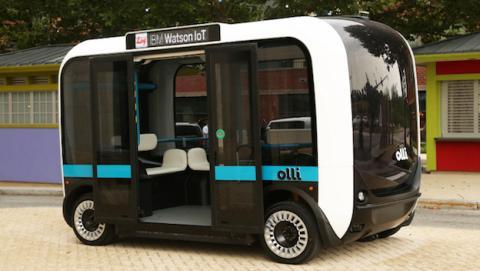 Nuevo shuttle autónomo impreso en 3D