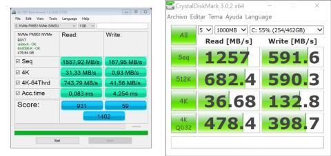 Dell XPS 15 rendimiento ssd