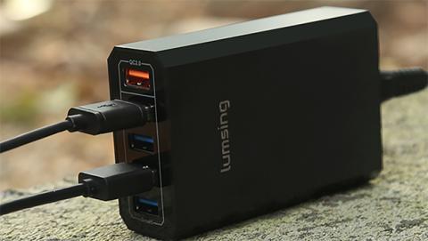 Cargador Lumsing de 5 puertos y quick charge