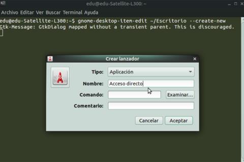 Ejecuta el Creador de lanzadores de Ubuntu