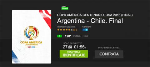 Argentina Chile final Copa América