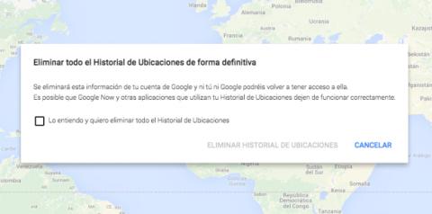 Elimina historial de ubicaciones
