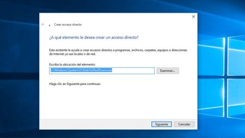 Crea un acceso directo a apagar Windows deslizando