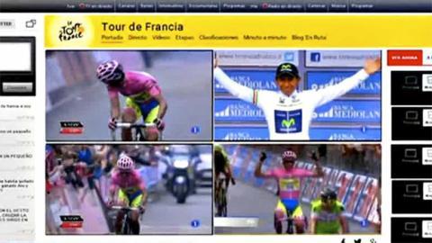 Modo multipantalla de la emisión del Tour en TVE