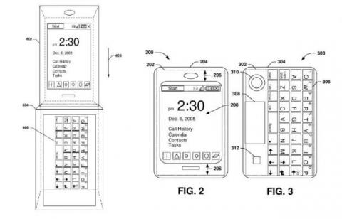 patente teclado surface phone