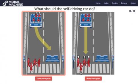 Salvar la vida en los accidentes de coches autónomos