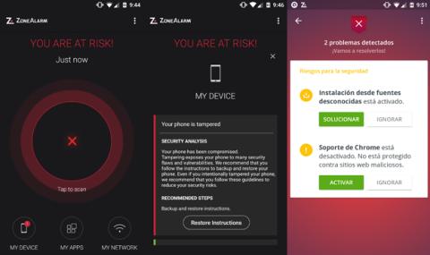 Escanea tu móvil en buscar de vulnerabilidades