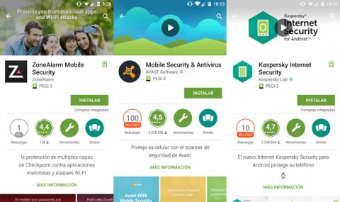 Instala un antivirus para Android