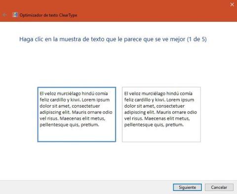 ClearType en Windows 10