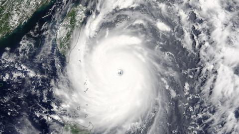 El poder del tifón Nepartak, captado en vídeo por la NASA