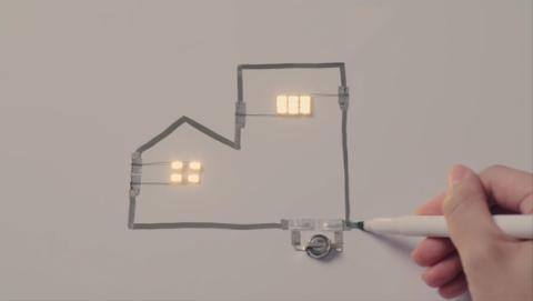 La tinta de este rotulador conduce la electricidad