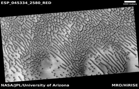 Imagen completa del código Morse de Marte