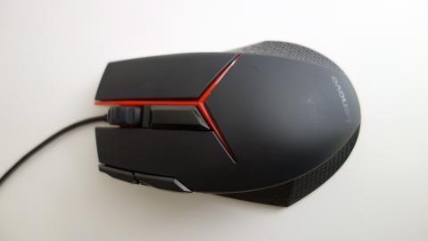 vista superior del Lenovo gaming mouse