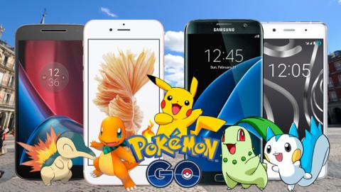 mejores moviles pokemon go, pokemon go moviles, pokemon go gps, pokemon go giroscopio