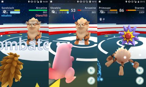 Elige Pokémon de tipo distinto. Imagen derecha: combate colaborativo