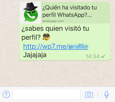 Estafa de Whatsapp