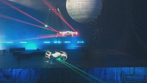 Los drones oficiales de Star Wars disparan rayos láser de verdad