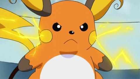 Raichu, evolución de Pikachu