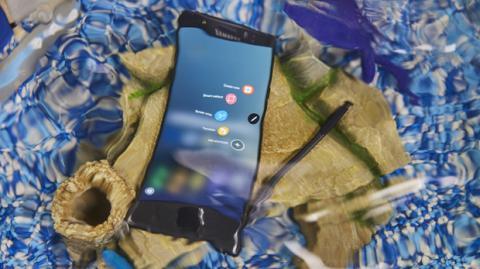Galaxy Note 7 resistente al agua