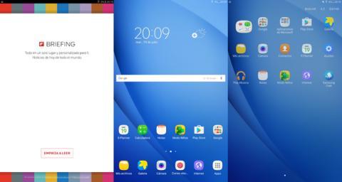 Interfaz Galaxy Tab A 2016