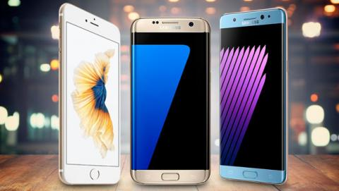 comparativa note 7 s7 edge iphone, note 7 vs s7 edge, note 7 vs iphone, note 7 vs 6s plus,