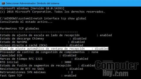 Comprobar la característica Windows Auto-Tuning