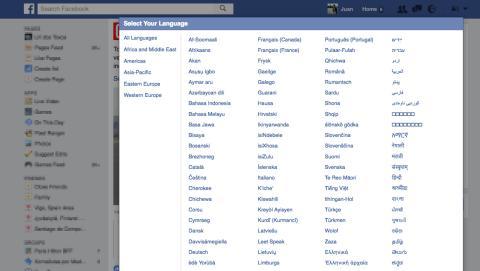 Elegir idiomas alternativos