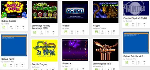 Juegos para la consola Amiga en Internet Archive