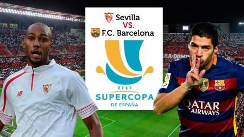 Supercopa España Sevilla Barcelona partido de ida online en directo por Internet