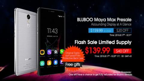 Bluboo Maya Max puede salirte gratis si participas en el concurso especial de ventas de Bluboo.