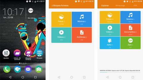 Captura de pantalla de apps de Wiko Ufeel