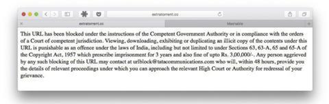 El gobierno indio lanza medidas para detener la piratería