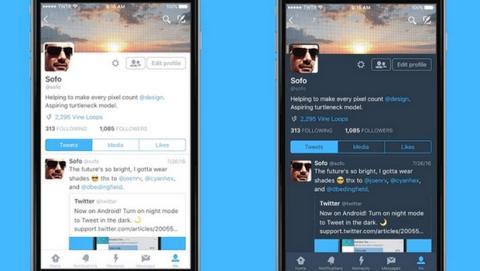 El Modo Nocturno de Twitter ya disponible en iOS y Android