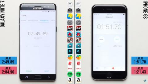 test iPhone 6s Samsung Galaxy Note 7