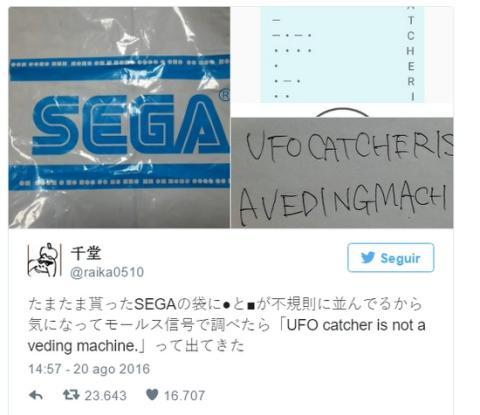 Descubren un mensaje secreto oculto dos años en bolsas de Sega