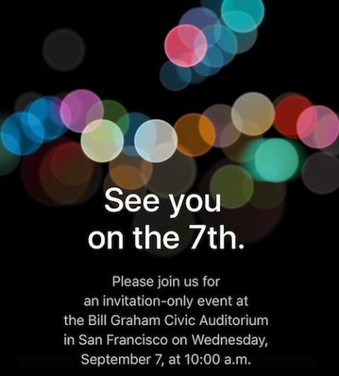 iPhone 7 se presentará el 7 de septiembre, Apple lo confirma