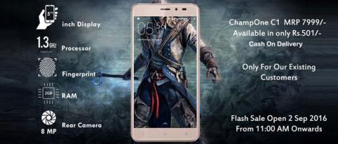 Especificaciones del ChampOne, el smartphone indio de 7 dólares