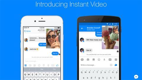 Vídeos instantáneos en Facebook Messenger