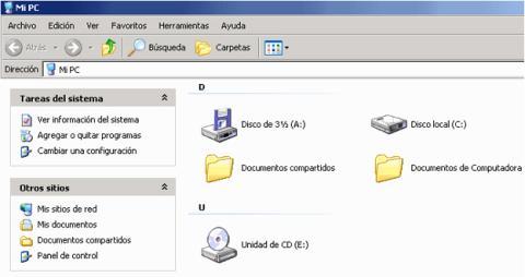 Unidad de disquetes en Windows XP