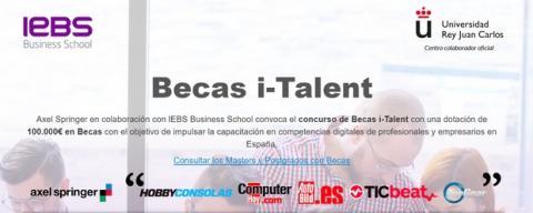 Se convocan las becas i-Talent de formación en competencias digitales