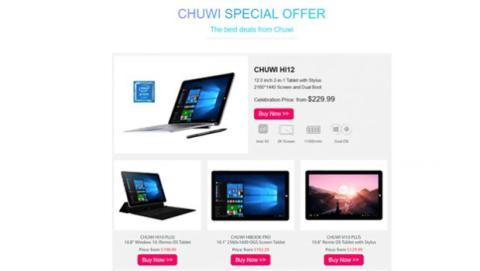 Chuwi es un fabricante de tabletas y convertibles 2 en 1