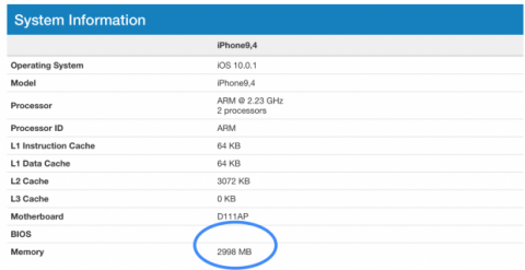 geekbench iphone 7 plus
