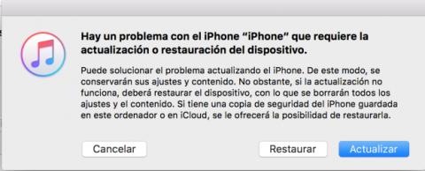Problema actualización iOS 10